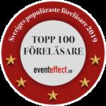 Top 100 föreläsare badge