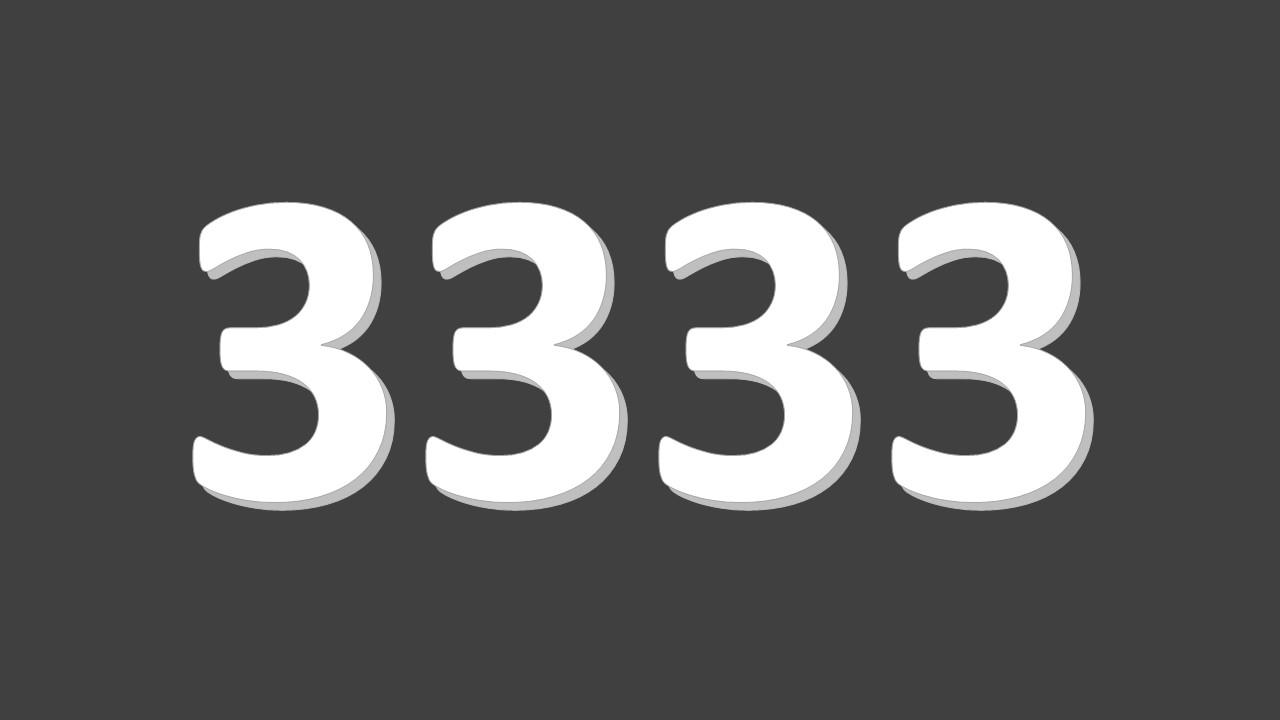 Siffrorna 3333