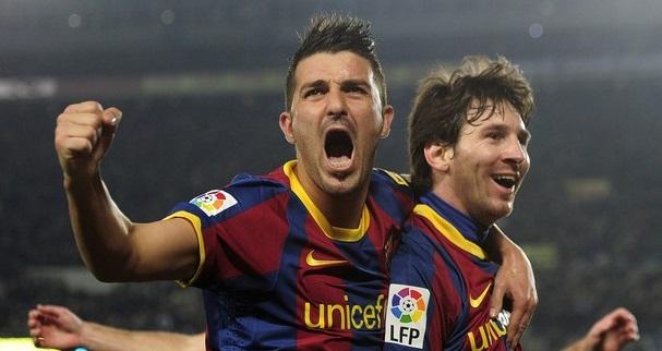 Två jublande fotbollsspelare