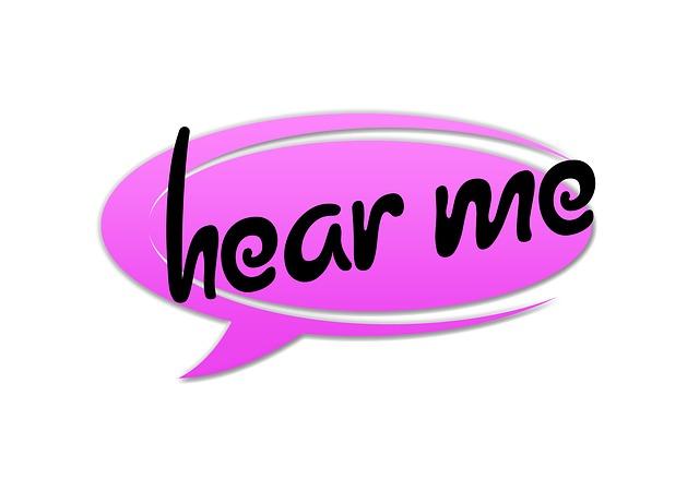 """pratbubbla """"hear me"""""""