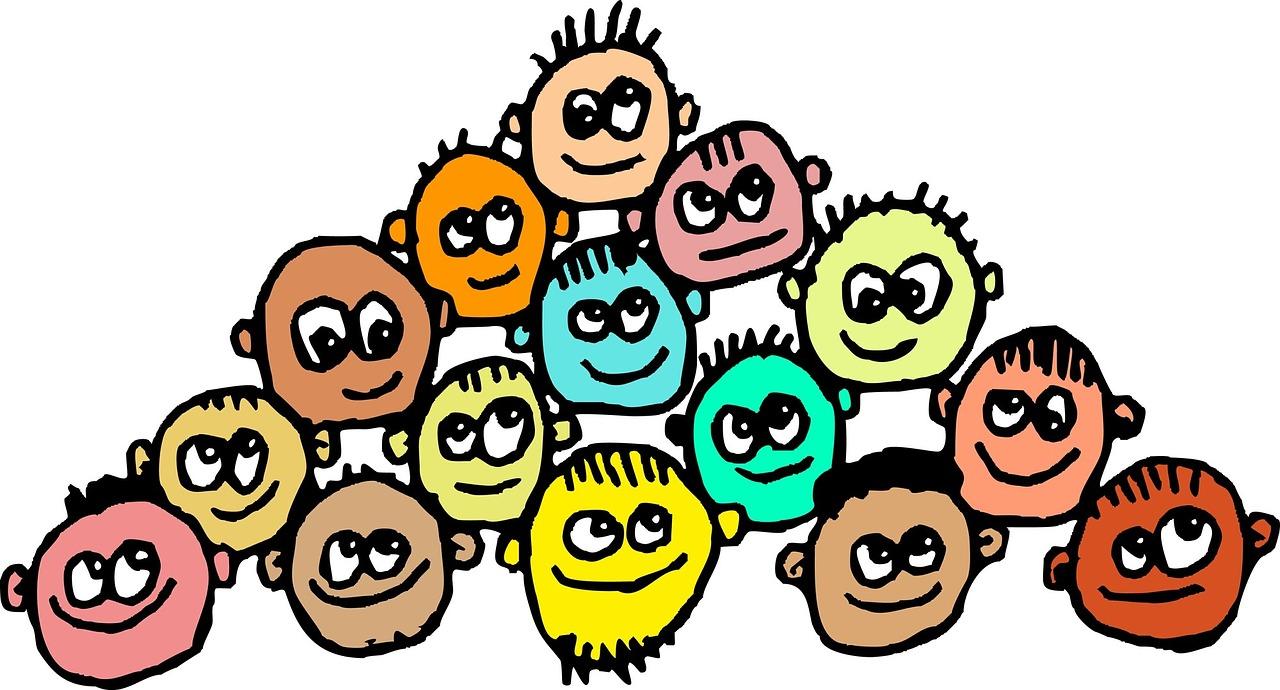 Ansikten med olika utseenden